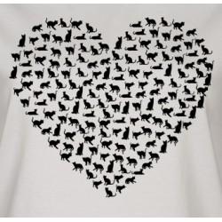 Srdce kočka- dámské