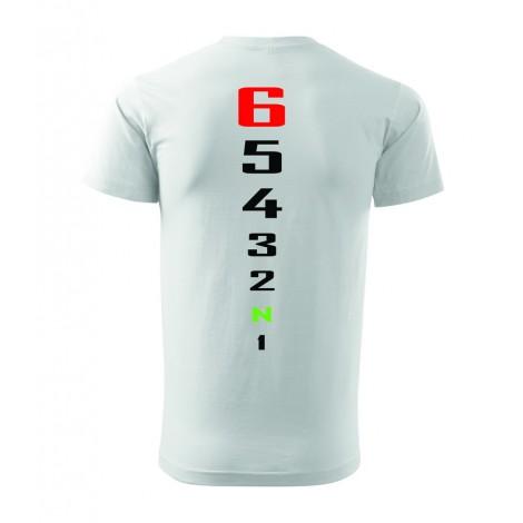 Moto tričko tachometr